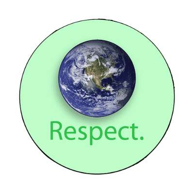 planet earth respect magnet