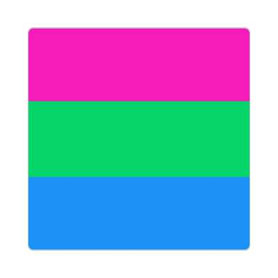 polysexual flag sticker
