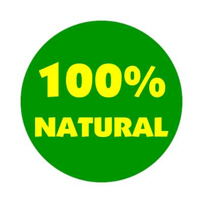 pricetag 100 percent natural sticker
