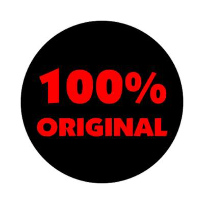 pricetag 100 percent original sticker