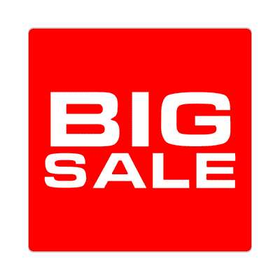 pricetag big sale sticker