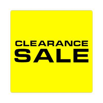 pricetag clearance sale sticker