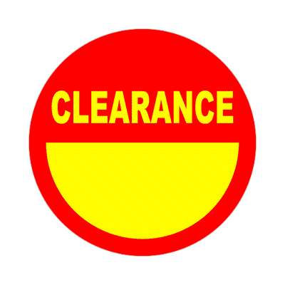 pricetag clearance sticker