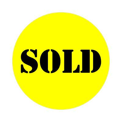 pricetag sold yellow stencil sticker