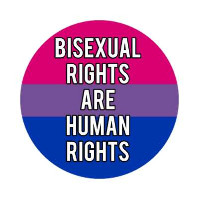 pride flag bisexual rights are human rights sticker
