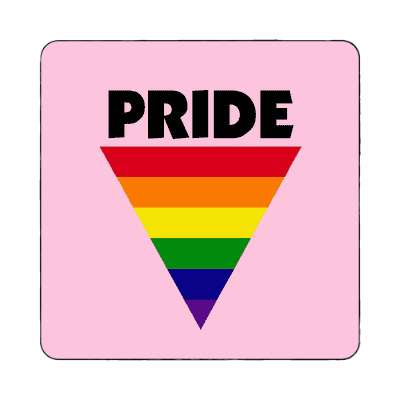 pride rainbow triangle pink magnet