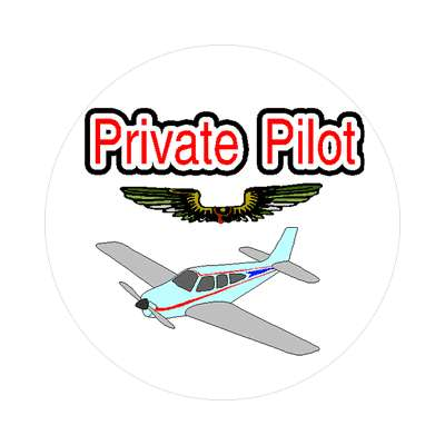 private pilot sticker