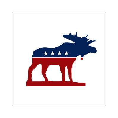 progressive party sticker