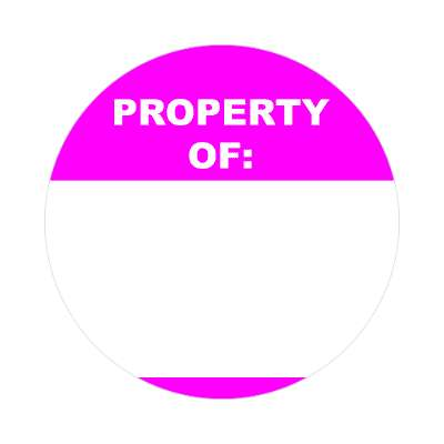property of bright magenta fill in nametag sticker