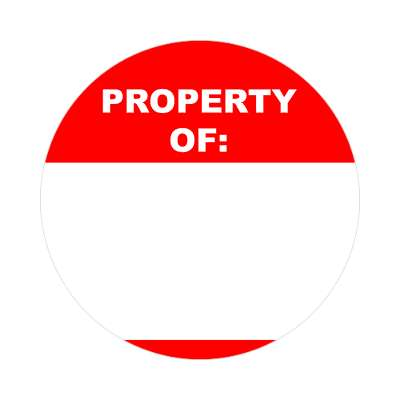 property of bright red fill in nametag sticker