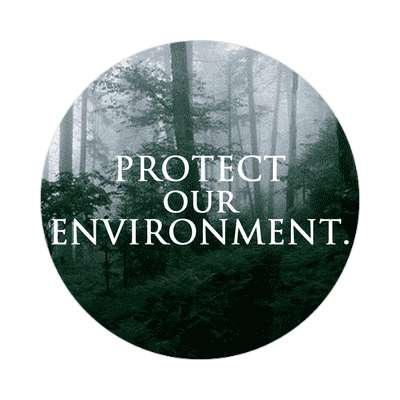protect our environment forest sticker