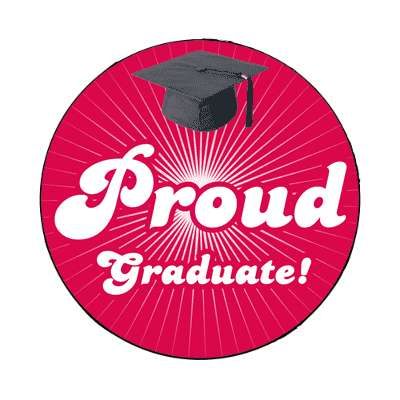 proud graduate rays red graduation cap magnet
