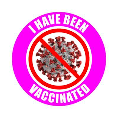 purple covid i have been vaccinated stickers, magnet