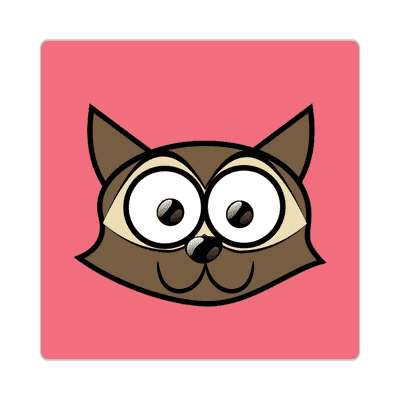raccoon cartoon cute animal sticker
