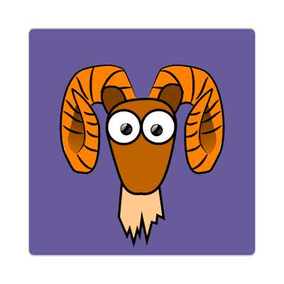 ram cartoon cute animal sticker