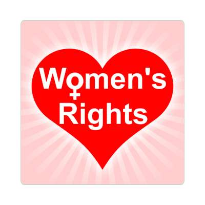 rays light pink womens rights heart sticker