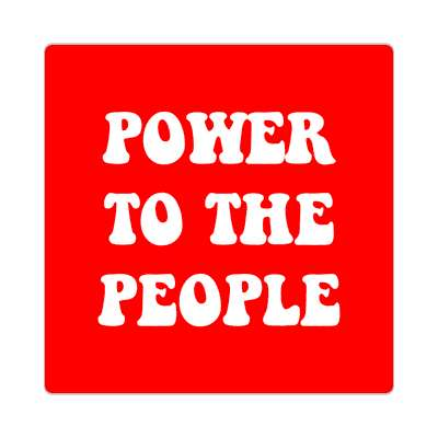 red power to the people hippy sticker