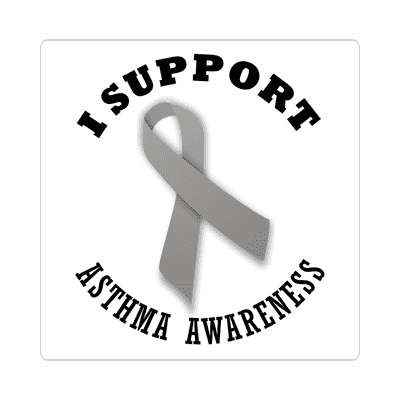 ribbon i support asthma awareness sticker