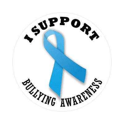 ribbon i support bullying awareness sticker