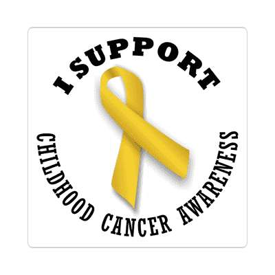 ribbon i support childhood cancer awareness sticker