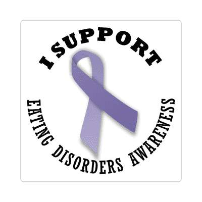 ribbon i support eating disorders awareness sticker
