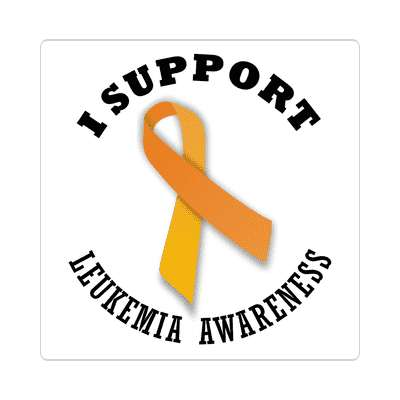 ribbon i support leukemia awareness sticker