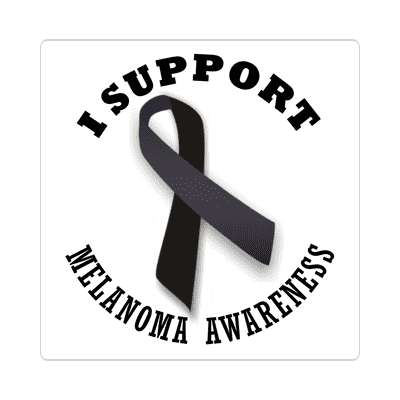 ribbon i support melanoma awareness sticker