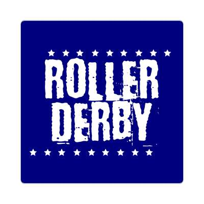 roller derby grunge dark blue stars sticker