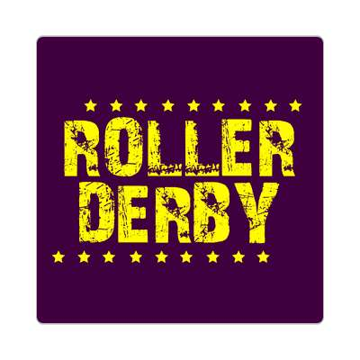 roller derby grunge dark purple stars sticker