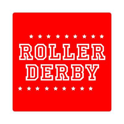 roller derby red stars classic sticker
