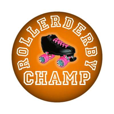rollerderby champ sticker