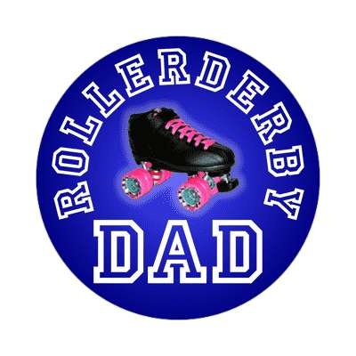 rollerderby dad sticker