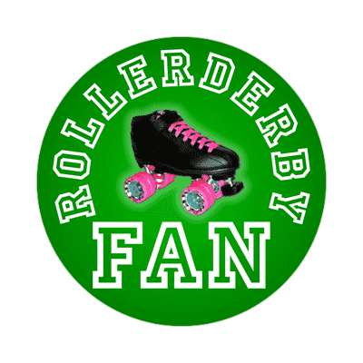 rollerderby fan sticker