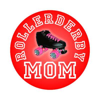 rollerderby mom sticker
