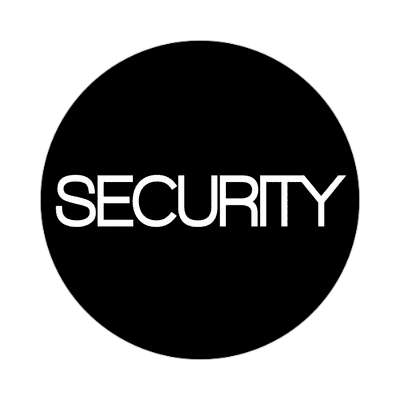 security classic black sticker