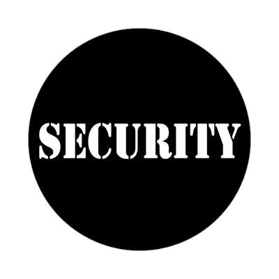 security stencil black tall sticker