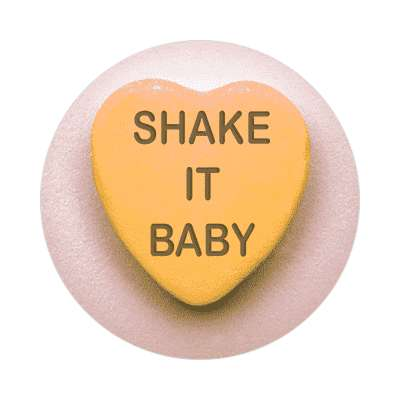 shake it baby valentines day heart candy sticker