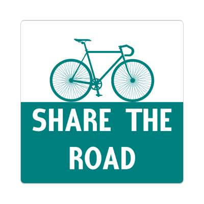 share the road silhouette bicycle sticker