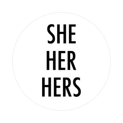 she her hers pronouns sticker