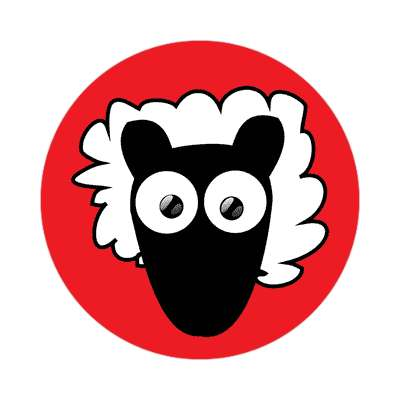 sheep cartoon cute animal sticker
