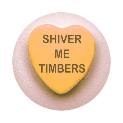 shiver me timbers valentines day heart candy sticker