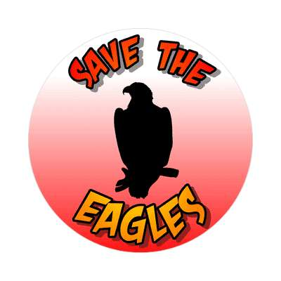 silhouette bird save the eagles sticker