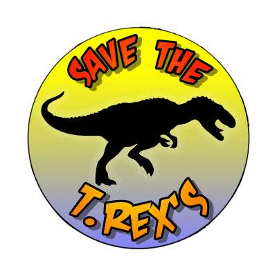 silhouette dinsosaur save the t rex magnet