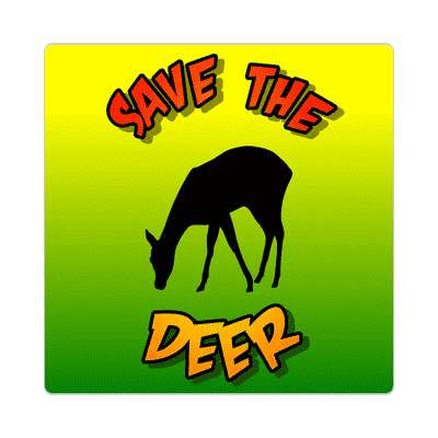 silhouette save the deer sticker