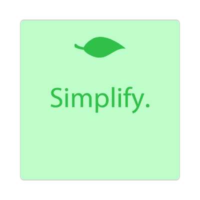 simplify leaf small sticker