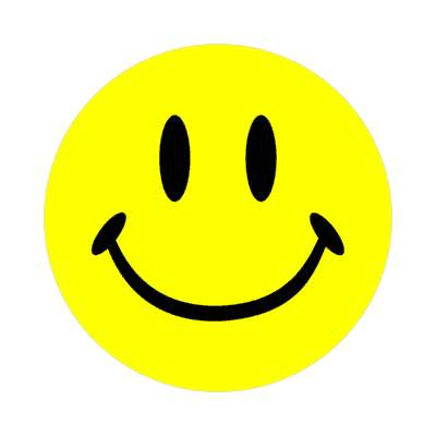 smiley classic yellow sticker