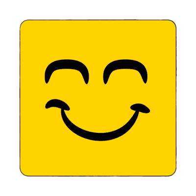 smiley closed smile eyes satisfied magnet