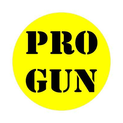 stencil yellow pro gun sticker