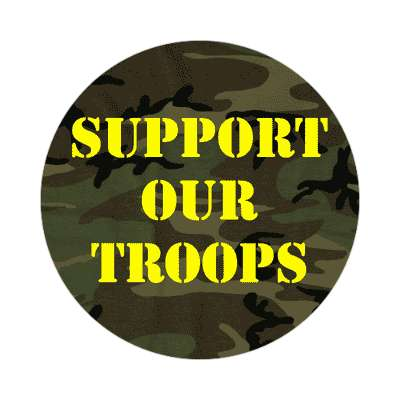 support our troops camouflage sticker