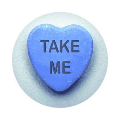 take me valentines day heart candy sticker